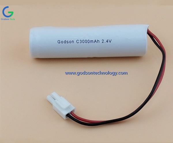 镍隔充电电池组 C3000mAh 2.4V