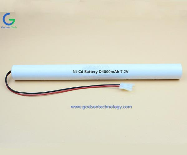 镍隔充电电池组 D4000mAh 7.2V
