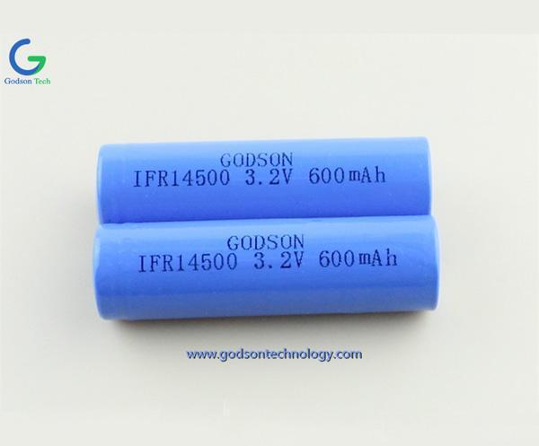 磷酸铁锂充电电池 IFR14500 3.2V 600mAh