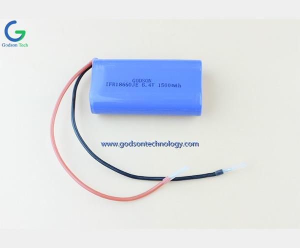 磷酸铁锂充电电池 IFR18650 6.4V 1500mAh