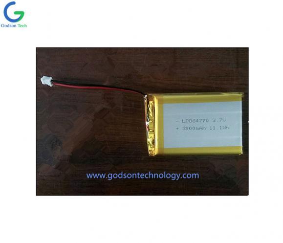 聚合物锂电池 864770 3000mAh 3.7V
