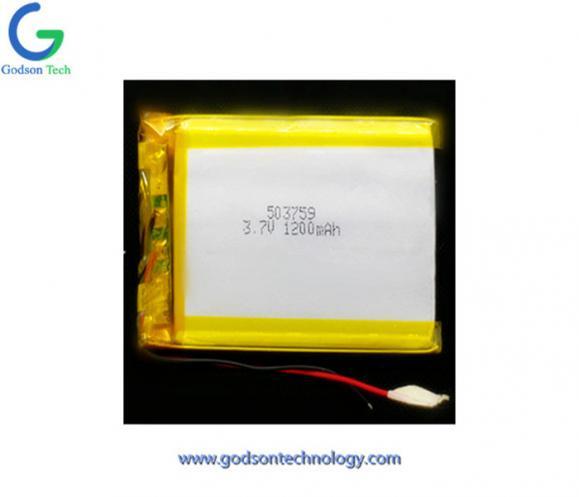 聚合物锂电池 503759 1200mAh 3.7V