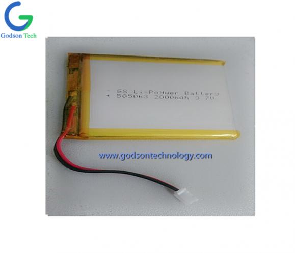 聚合物锂电池 505063 2000mAh 3.7V